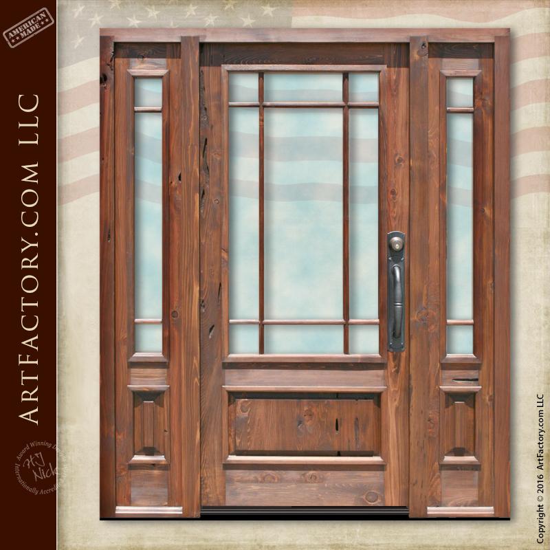 Solid American Craftsman Door