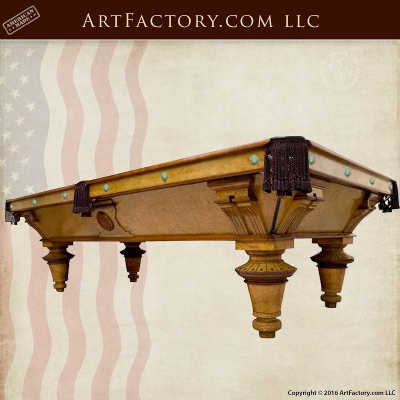 Phelan Collender Inspired Pool Table Solid Wood Master Hand Carved - Master pool table