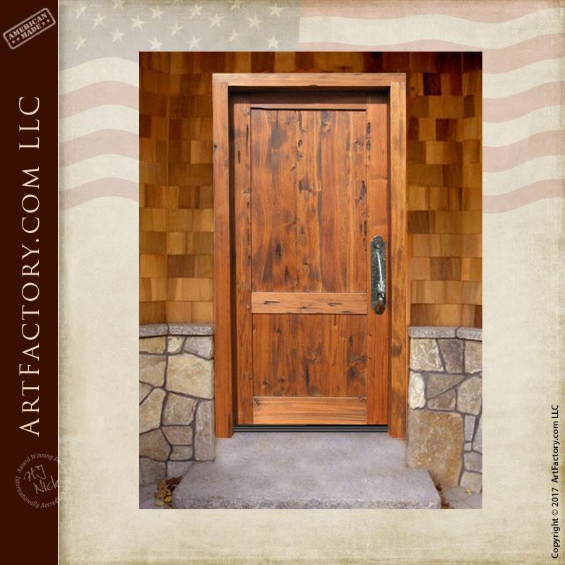 custom wooden front door