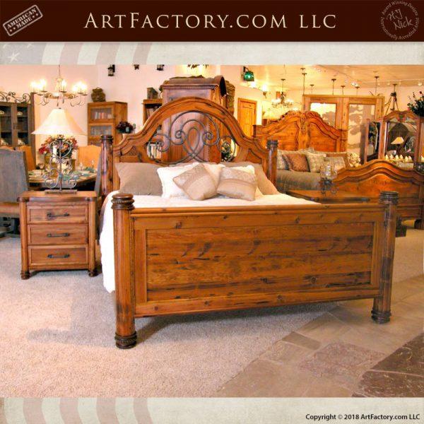 scroll headboard king bed