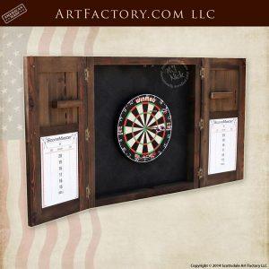 custom dart board cabinet