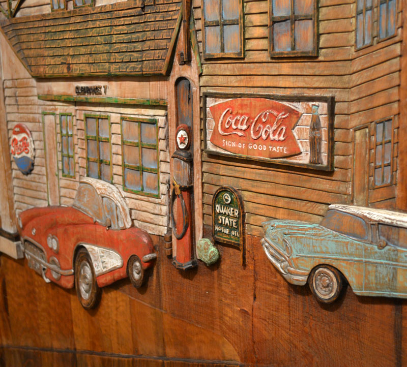 Garage doors classic route 66 scene garage doors for Garage route 66 metz