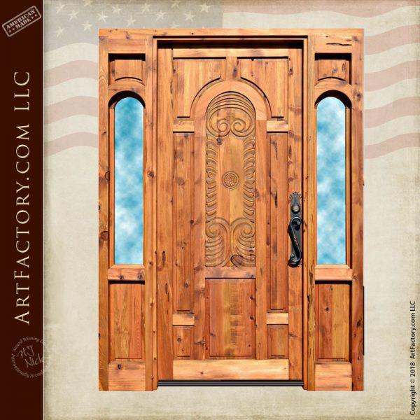Baroque inspired hand carved door
