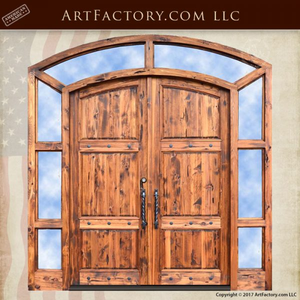 eyebrow arched entrance doors