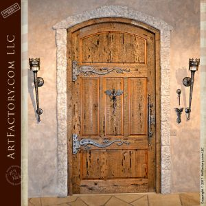 custom medieval style castle door with custom medieval castle door handles