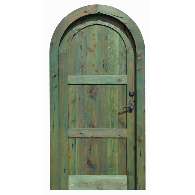 custom solid wood arched door