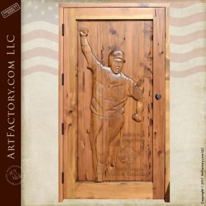 Kent Hrbek Hand Carved Door