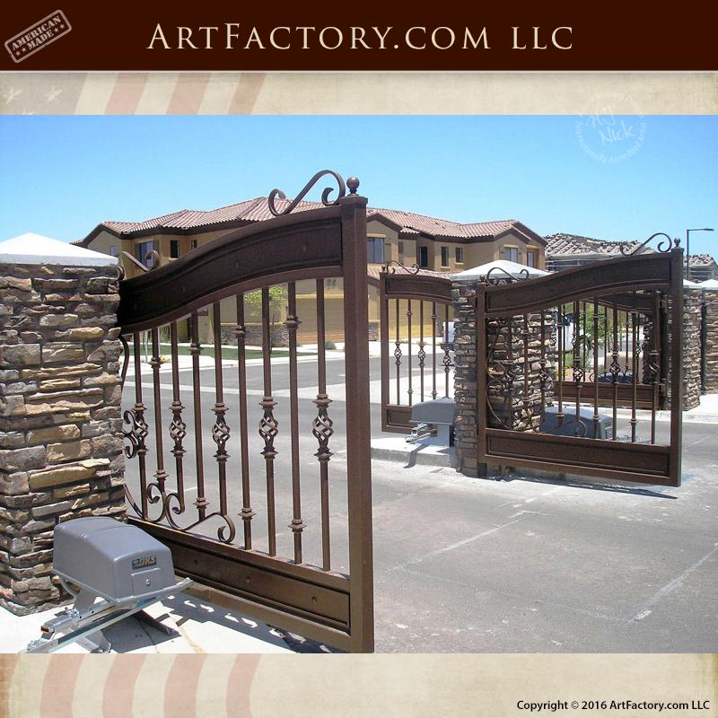 Custom Wrought Iron Driveway Gates - Handmade Decorative