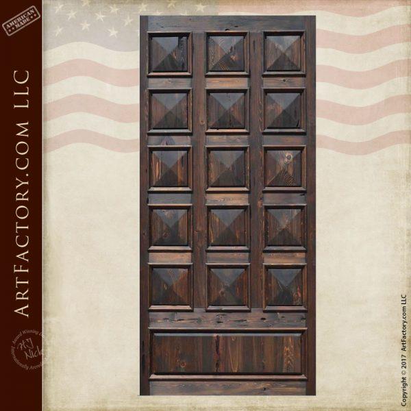 pyramid panel wood door