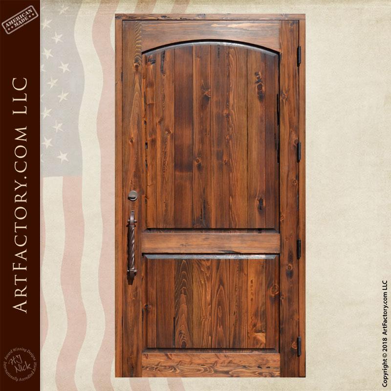 planked 2 panel door back