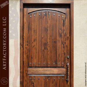 planked 2 panel door top