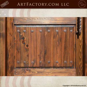 bottom door panel wood planks