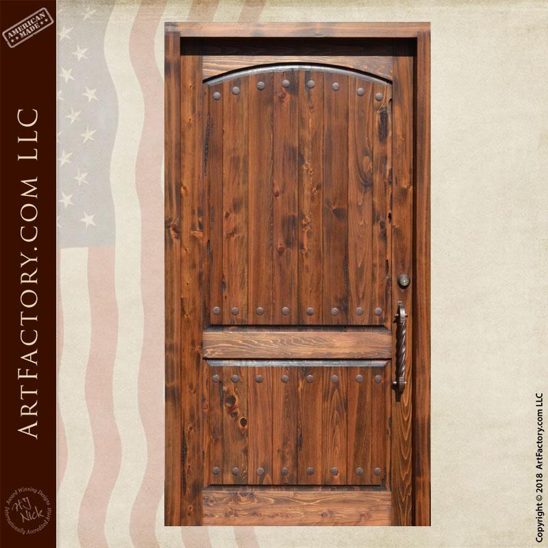planked 2 panel door front