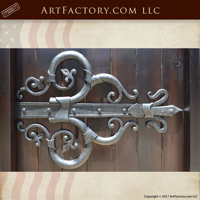 Decorative Wrought Iron Hinges Beautifully Handcrafted