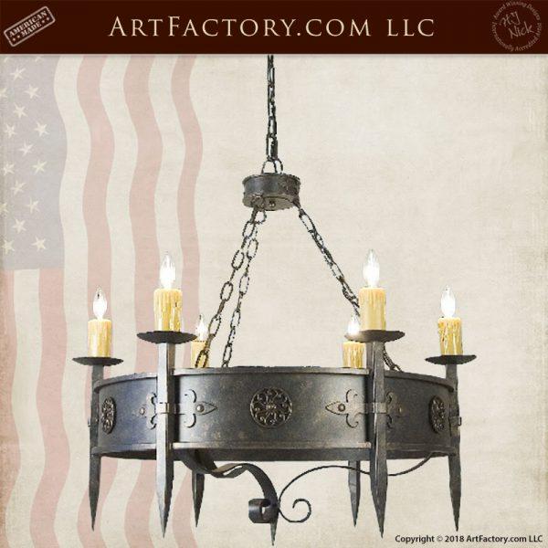 custom iron gothic chandelier