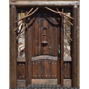 custom log style door