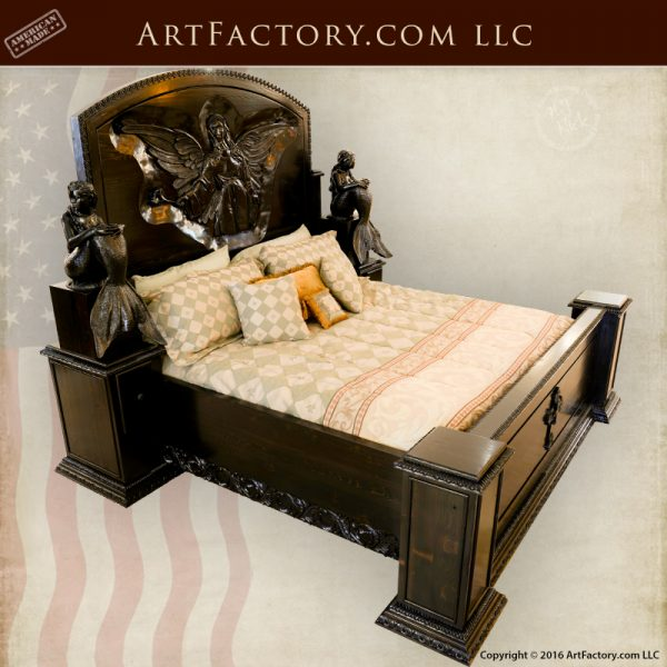 Gothic Hand Carved Bed
