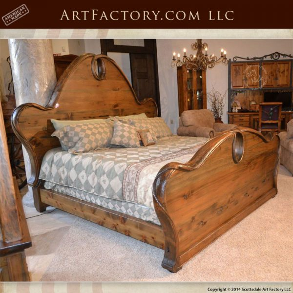 Art Nouveau style bedroom set with Art Nouveau style king bed