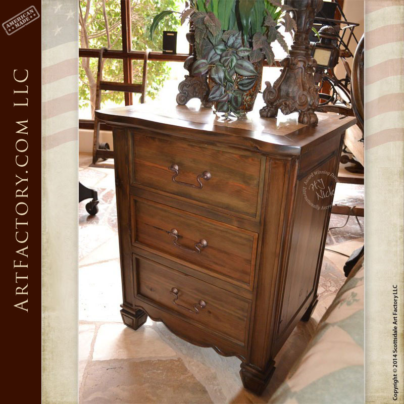 Art Nouveau Style Nightstands: Matching Bed And Armoire