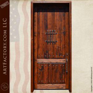 vertical plank speakeasy door