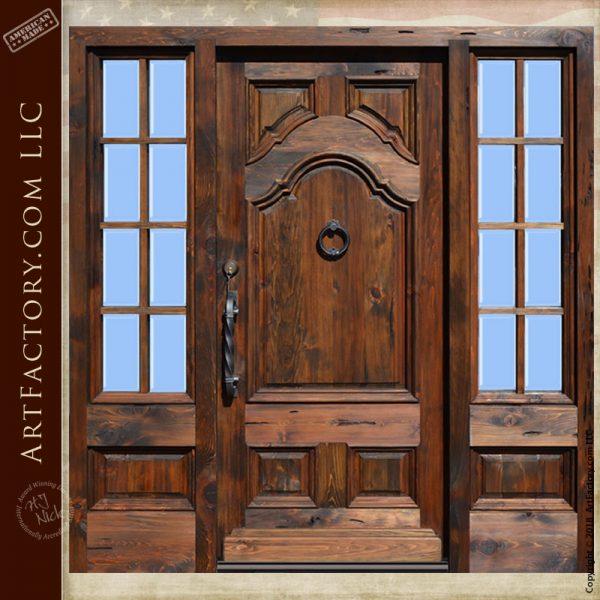 handcrafted custom wooden entrance door