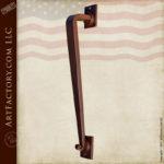 elegant custom iron door pull