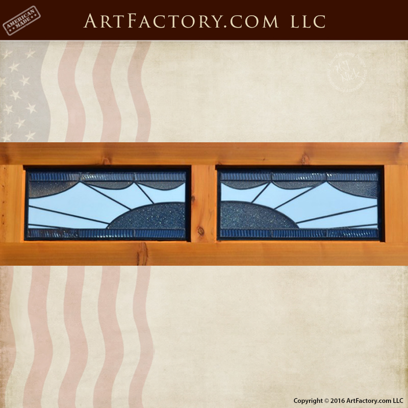 Solid Craftsman Garage Doors Decorative Leaded Glass Panels