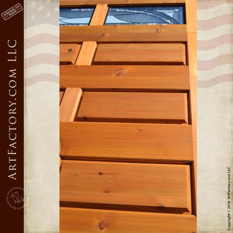 Solid Craftsman Garage Doors Decorative Leaded Glass Panels
