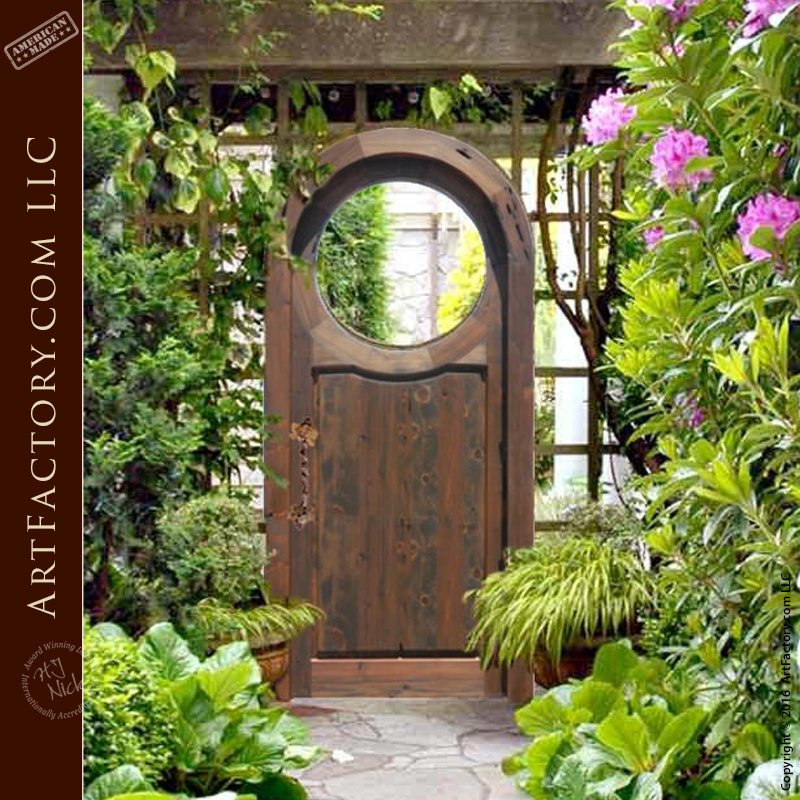 Fine Art Garden Gates Handcrafted Arched Solid Wood