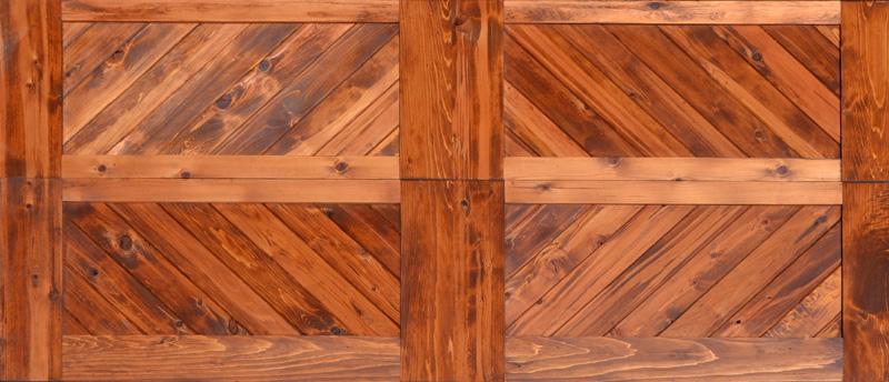 Wood Garage Doors Herringbone Design Garage Doors Fine