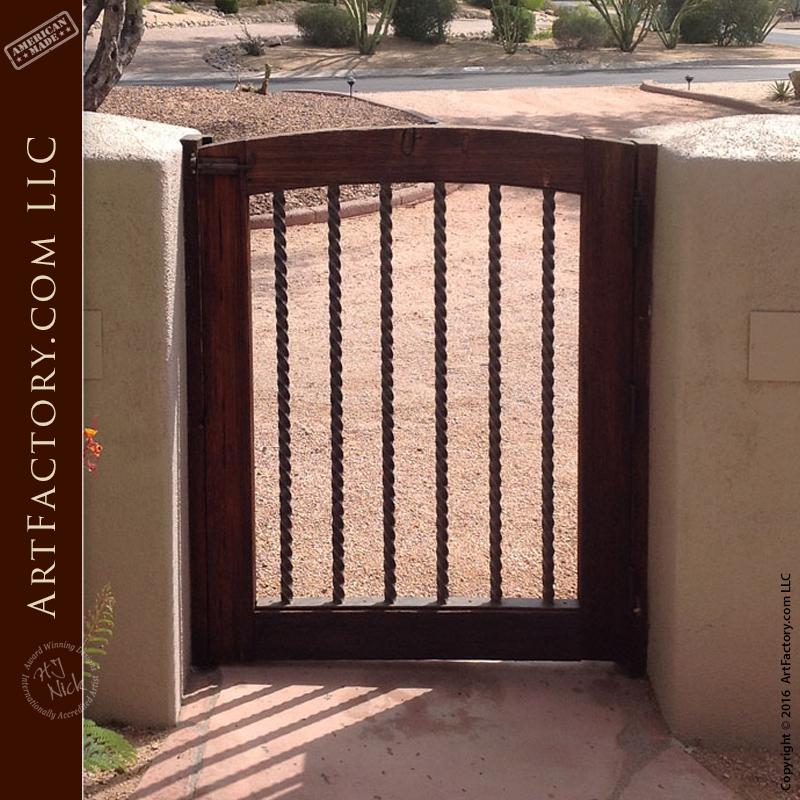 Custom Wood Garden Gates U2013 Wrought Iron U2013 GG694