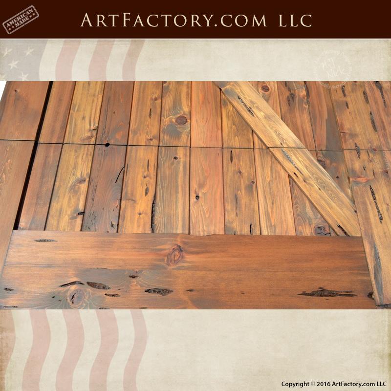 Cross Buck Garage Doors Solid Wood Iron Hardware