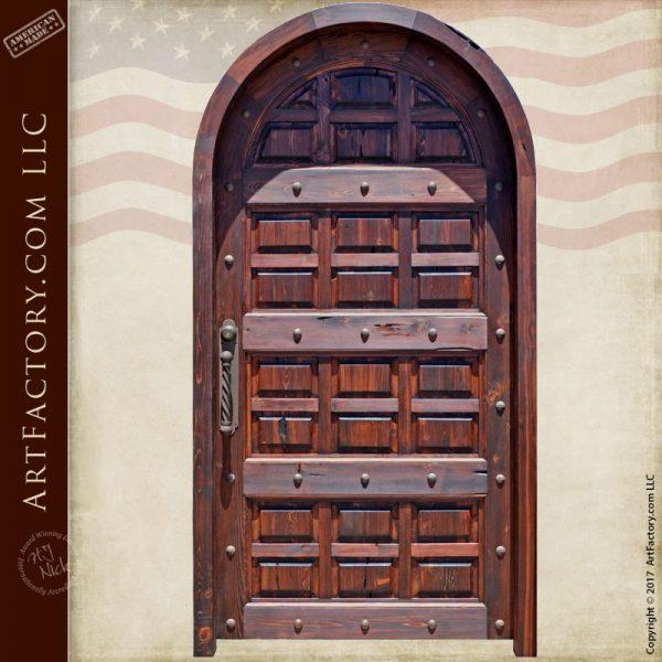 arched castle entrance door