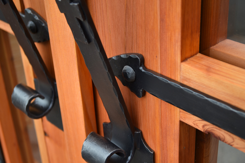 French Double Doors Hardware Is Wrought Iron Unique