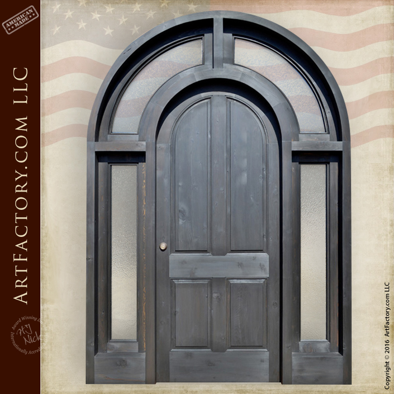 Full Arched Grand Entrance Door Custom Thermal Glass