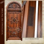 lions head carved door