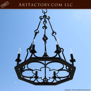 medieval wrought iron chandelier