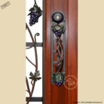 wine theme iron door grill