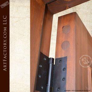 intersecting panel craftsman door