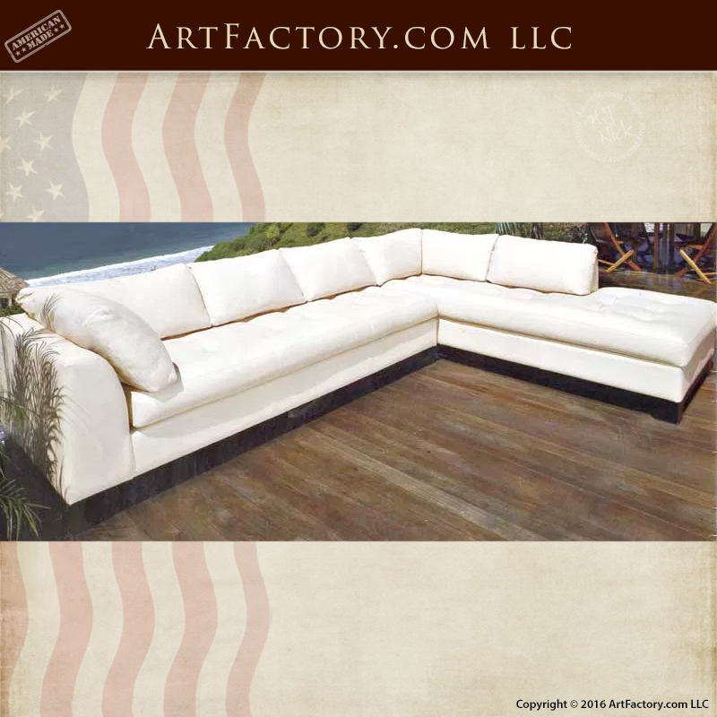 White Full Grain Designer Leather Sofa U2013 Custom Furniture U2013 6773