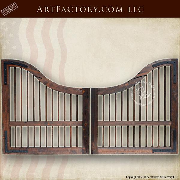 Custom Wood Gates: Custom Wood Driveway Gate: Windsor Style With Inverted Arch
