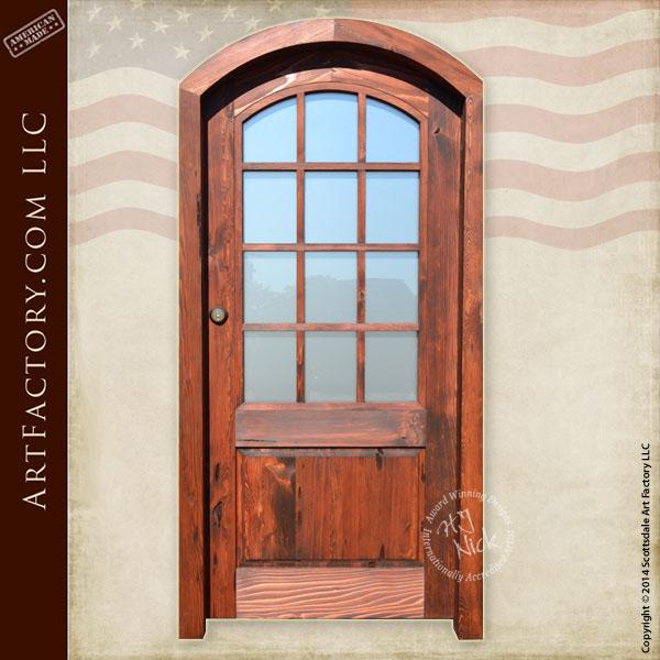 custom French front door