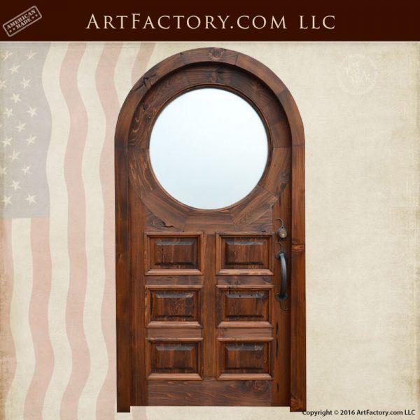 custom raised panel wooden door