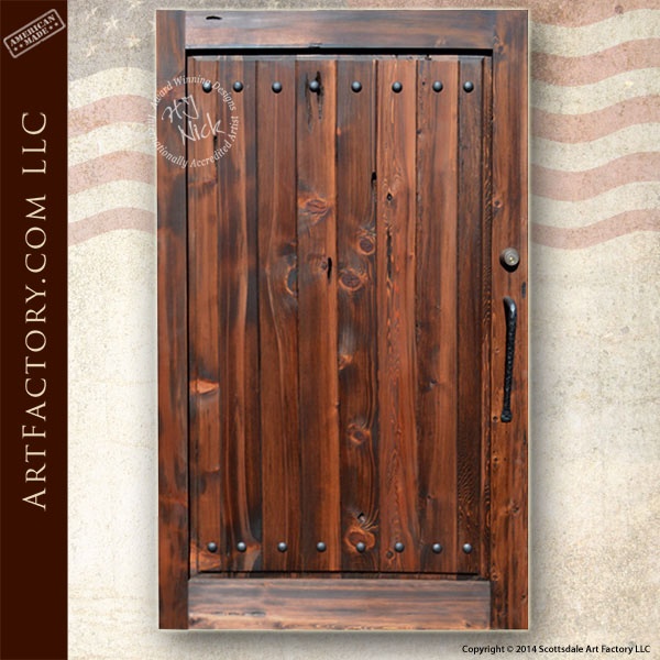 custom wooden courtyard gate