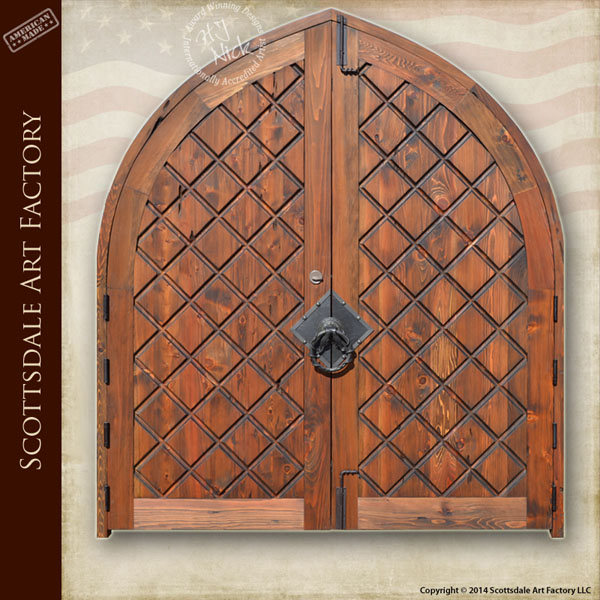 Hand Carved Entrance Double Doors