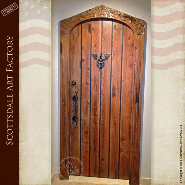 Arched Castle Door Medieval Theme Entrances Doors
