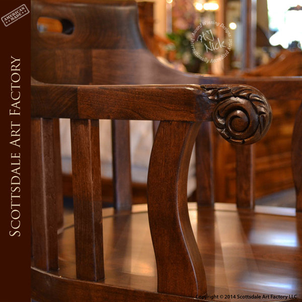 Windsor Bow Back Swivel Solid Cherry Bar Stool