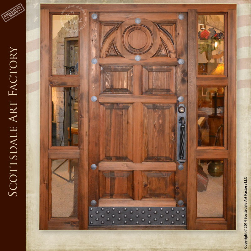 Custom wood doors from Scottsdale Art Factory are a treaure for several lifetimes...