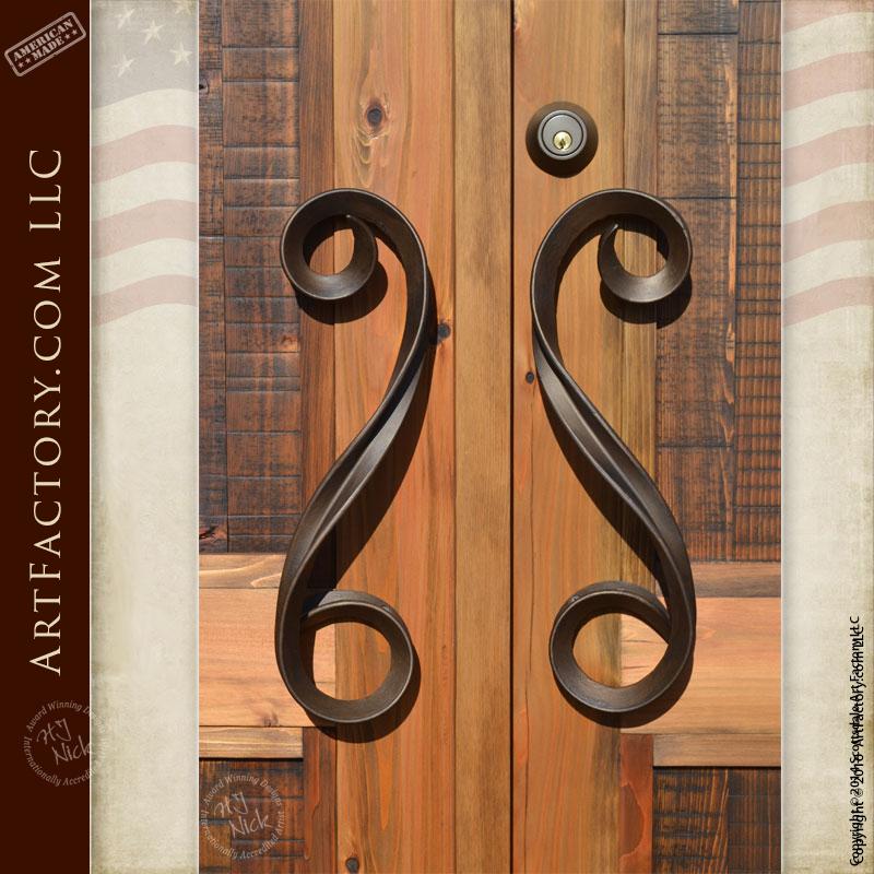 Contemporary Fine Art Door Handles: Hand Forged By Master Blacksmiths U2013  HH252B