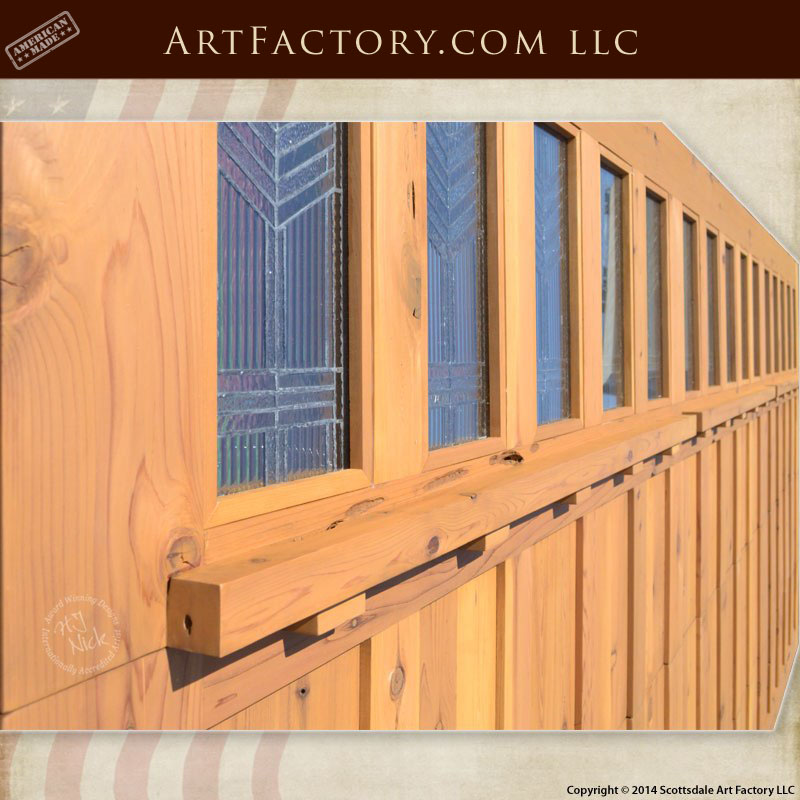 Craftsman Style Garage Doors Handcrafted From Natural